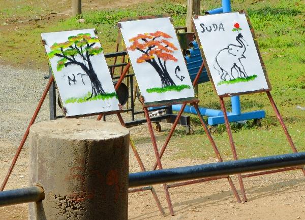 Gemälde der Elefanten